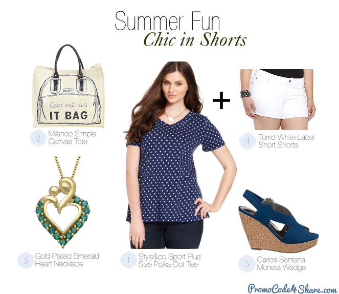 Cute Summer Outfits for Plus Size Babe - Chic in Shorts