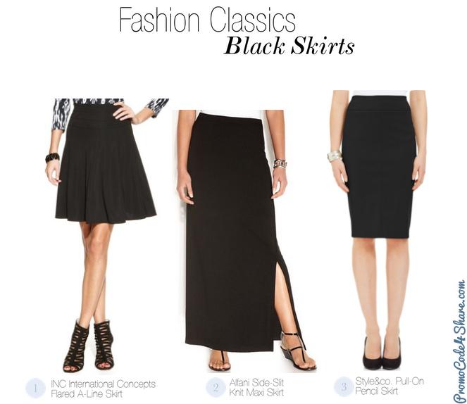 Girl Fashion Classics - Black Skirts