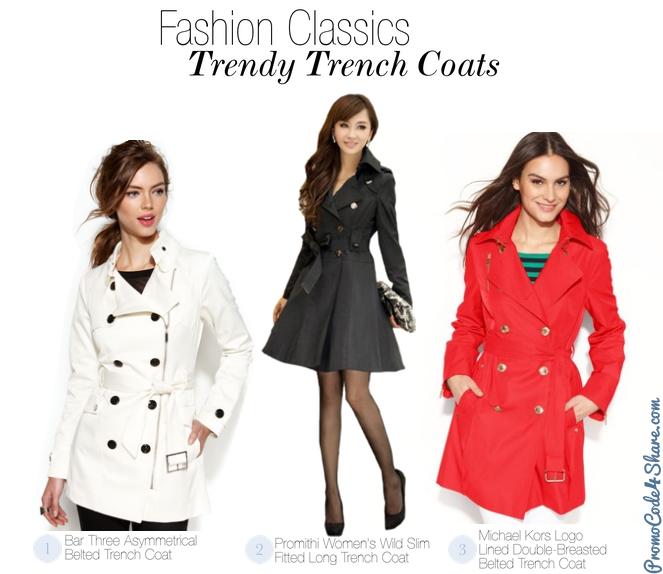 Girls Fashion Classics - Trendy Trench Coats