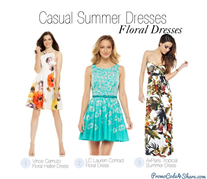 Casual Summer Dresses Styles - Floral Dress