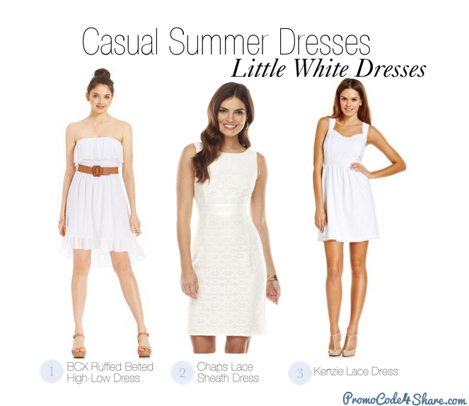 Casual Summer Dresses - White Dresses