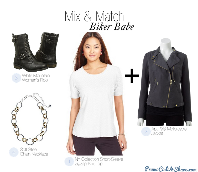 Mix and Match with White Shirts - Biker Babe
