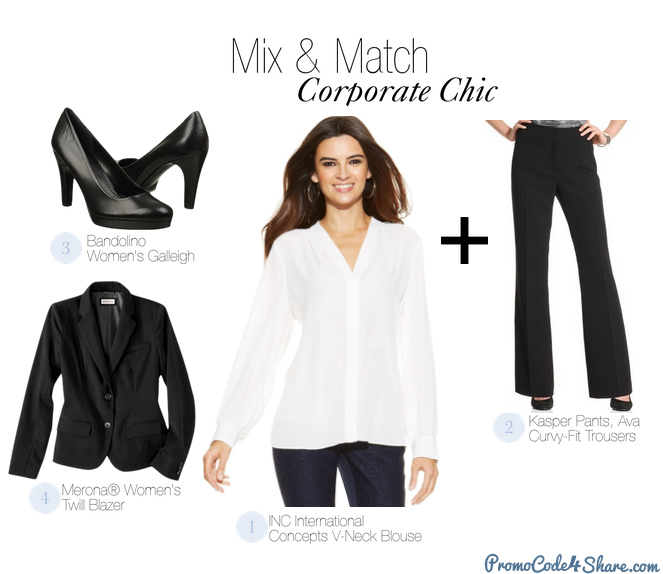 Mix and Match with White Shirts - Corporate Chic