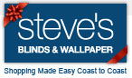 Save 25% - 85% OFF at Steves Blinds and Wallpaper