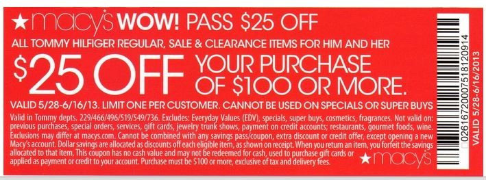 Macy's 25 off 100 purchase coupon